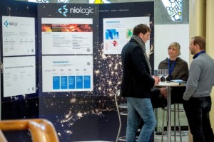 Messestand der niologic GmbH, Foto: Roman Hallier, StartupExpo