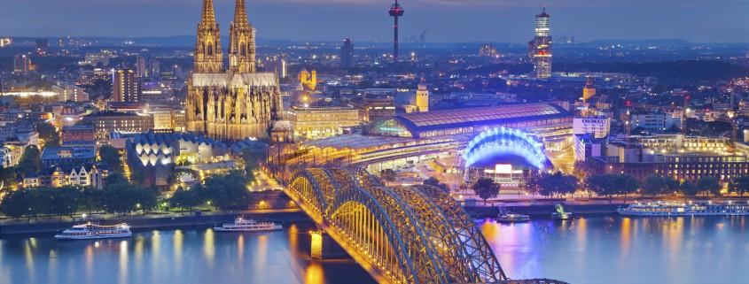 Köln aus der Vogelperspektive, Veranstaltungsort des Cologne Business Days der IHK Köln